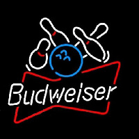Budweiser Bowling Ball Neon Sign