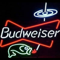 Budweiser Bowtie fish Beer Bar Neon Sign