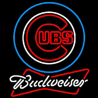 Budweiser Chicago Cubs MLB Beer Sign Neon Sign