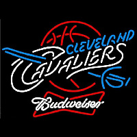 Budweiser Cleveland Cavaliers NBA Beer Sign Neon Sign