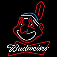 Budweiser Cleveland Indians MLB Beer Sign Neon Sign