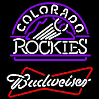 Budweiser Colorado Rockies MLB Beer Sign Neon Sign