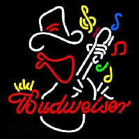 Budweiser Cowboy Guitar Neon Sign