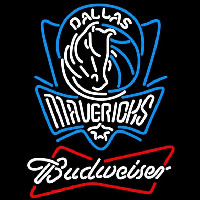 Budweiser Dallas Mavericks NBA Beer Sign Neon Sign