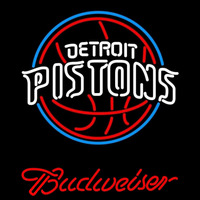 Budweiser Detroit Pistons NBA Beer Sign Neon Sign