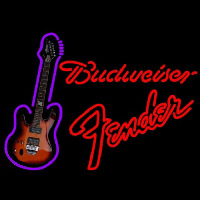 Budweiser Fender Red Guitar Beer Sign Neon Sign