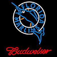 Budweiser Florida Marlins MLB Beer Sign Neon Sign