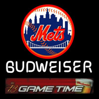 Budweiser Game Time Mets Neon Sign Neon Sign