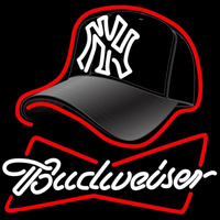 Budweiser Hat with Yankees Fitted Neon Sign Neon Sign