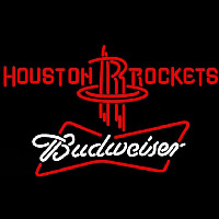 Budweiser Houston Rockets NBA Beer Sign Neon Sign