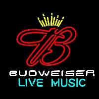 Budweiser Live Music 2 Beer Sign Neon Sign