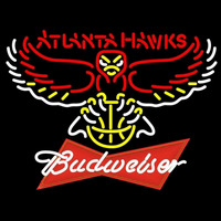 Budweiser Logo Atlanta Hawks NBA Beer Sign Neon Sign