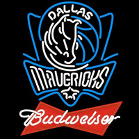 Budweiser Logo Dallas Mavericks NBA Beer Sign Neon Sign