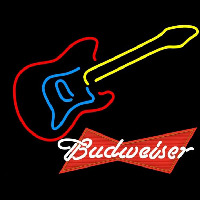 Budweiser Logo Guitar Beer Sign Neon Sign