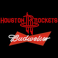 Budweiser Logo Houston Rockets NBA Beer Sign Neon Sign