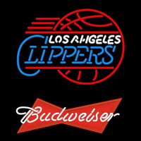 Budweiser Logo Los Angeles Clippers NBA Beer Sign Neon Sign