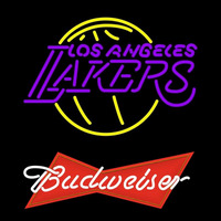 Budweiser Logo Los Angeles Lakers NBA Beer Sign Neon Sign