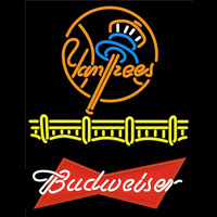 Budweiser Logo New York Yankees Beer Sign Neon Sign