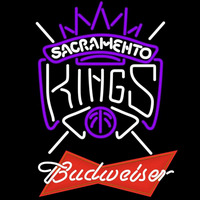 Budweiser Logo Sacramento Kings NBA Beer Sign Neon Sign