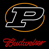 Budweiser Logo University Boilermakers Helmet Beer Sign Neon Sign