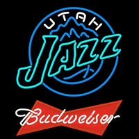Budweiser Logo Utah Jazz NBA Beer Sign Neon Sign