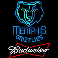 Budweiser Memphis Grizzlies NBA Beer Sign Neon Sign