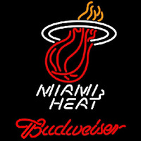 Budweiser Miami Heat NBA Beer Sign Neon Sign