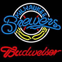 Budweiser Milwaukee Brewers MLB Beer Sign Neon Sign