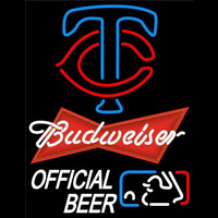Budweiser Minnesota Twins Logo Official Neon Sign Neon Sign