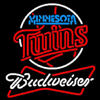 Budweiser Minnesota Twins MLB Beer Sign Neon Sign