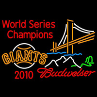 Budweiser Mountain Golden Gate San Francisco Giants 2010 World Series Champions Beer Sign Neon Sign