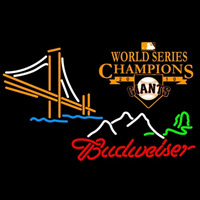 Budweiser Mountain Golden Gate San Francisco Giants 2010 World Series Champions Logo Beer Sign Neon Sign