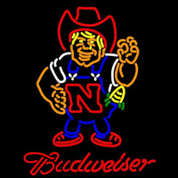 Budweiser Nebraska Cornhuskers Herby The Husker Beer Sign Neon Sign
