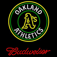 Budweiser Oakland Athletics MLB Beer Sign Neon Sign