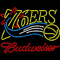 Budweiser Philadelphia 76ers NBA Beer Sign Neon Sign