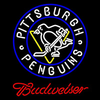 Budweiser Pittsburgh Penguins Beer Sign Neon Sign