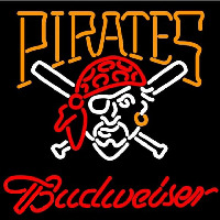 Budweiser Pittsburgh Pirates MLB Beer Sign Neon Sign