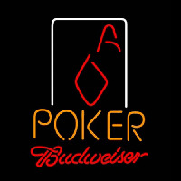 Budweiser Poker Squver Ace Neon Sign