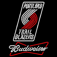 Budweiser Portland Trail Blazers NBA Beer Sign Neon Sign