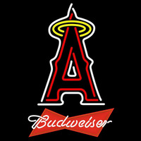 Budweiser Red Anaheim Angels MLB Beer Sign Neon Sign