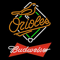 Budweiser Red Baltimore Orioles MLB Beer Sign Neon Sign