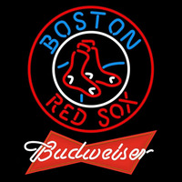 Budweiser Red Boston Red Sox MLB Beer Sign Neon Sign