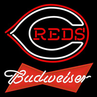 Budweiser Red Cincinnati Reds MLB Beer Sign Neon Sign