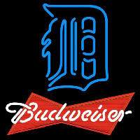 Budweiser Red Detroit Tigers MLB Beer Sign Neon Sign