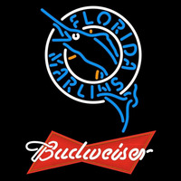 Budweiser Red Florida Marlins MLB Beer Sign Neon Sign