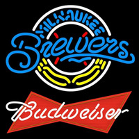 Budweiser Red Milwaukee Brewers MLB Beer Sign Neon Sign