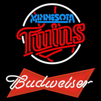 Budweiser Red Minnesota Twins MLB Beer Sign Neon Sign