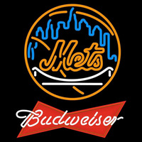 Budweiser Red New York Mets MLB Beer Sign Neon Sign