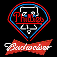 Budweiser Red Philadelphia Phillies MLB Beer Sign Neon Sign