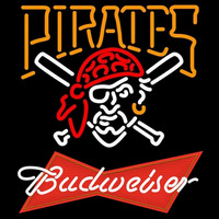 Budweiser Red Pittsburgh Pirates MLB Beer Sign Neon Sign